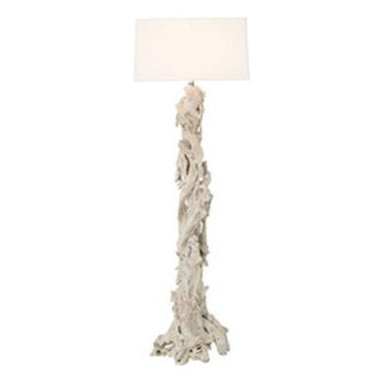 Eco Friendly Furnture and Lighting - Driftwood Floor Lamp.