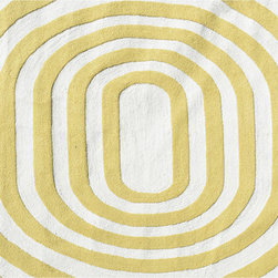 "The Rug Market - Mod Yellow area rug , size   5' X 7' 6"" -"