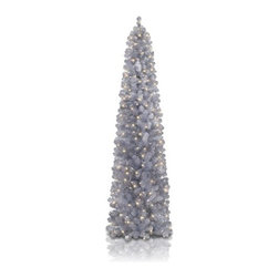 Shimmering Silver Pencil Tree - DECORATE YOUR HOME WITH A GLAMOROUS HIGHLIGHT WITH THIS SHIMMERING SILVER PENCIL TREE FROM TREETOPIA