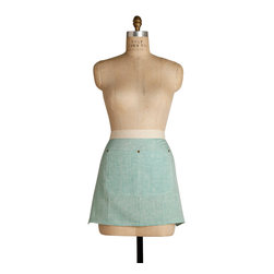 Birdkage - Mint Mini Half Apron - You'll make other cooks green with envy sporting this mint mini. Not just stylish, it's sturdy, too — thanks to details such as rugged blue jean rivets and a natural-cotton webbed waistband.