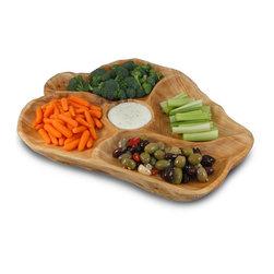 Enrico - Enrico Root Wood Appetizer Platter - Features: