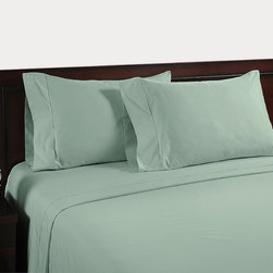 None - Color Sense Egyptian Cotton Velvet Touch 400 Thread Count Sheet Set - Stay warm and cozy with these 100 percent Egyptian cotton sheets available in a variety of colors. Conveniently machine washable and with a pocket depth up to 18 inches,these sheets are ideal for any king,queen or full sized bed.