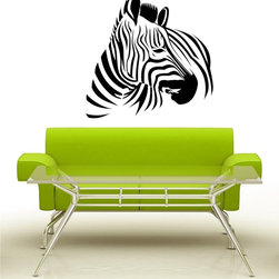 StickONmania - Zebra Turning Head Sticker - A cool vinyl decal wall art decoration for your home  Decorate your home with original vinyl decals made to order in our shop located in the USA. We only use the best equipment and materials to guarantee the everlasting quality of each vinyl sticker. Our original wall art design stickers are easy to apply on most flat surfaces, including slightly textured walls, windows, mirrors, or any smooth surface. Some wall decals may come in multiple pieces due to the size of the design, different sizes of most of our vinyl stickers are available, please message us for a quote. Interior wall decor stickers come with a MATTE finish that is easier to remove from painted surfaces but Exterior stickers for cars,  bathrooms and refrigerators come with a stickier GLOSSY finish that can also be used for exterior purposes. We DO NOT recommend using glossy finish stickers on walls. All of our Vinyl wall decals are removable but not re-positionable, simply peel and stick, no glue or chemicals needed. Our decals always come with instructions and if you order from Houzz we will always add a small thank you gift.