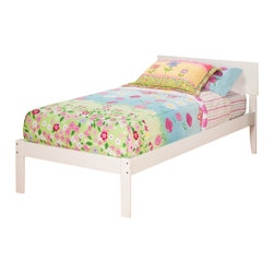 Atlantic Furniture - Atlantic Furniture Orlando Bed with Open Foot Rail in White Finish-Twin Size - Atlantic Furniture - Beds - AR8121002