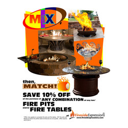 Fire Pits - Limited Time Offer: Save 10% off of any combination of any two fire pits and fire tables!  Fire pits start at $159.99