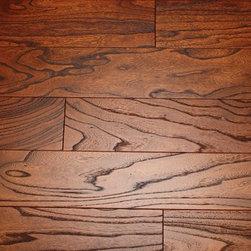 ELM Gunstock 9/16 x 5 Wire Brushed Engineered Hardwood Flooring -