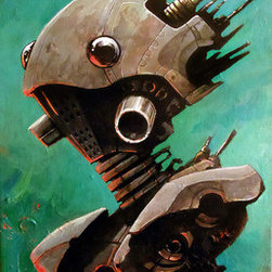 """""""Twin #2. Robot Series. """" (Original) By Joshua Davis - 2Nd Of A Set Of Robot Twins. Manufactured In The Year 2258 By The Ai Construct """"Mother"""" On Asteroid Outpost Lp3856 For Use As Personal Assistants To The Colony Governor And His Family."""