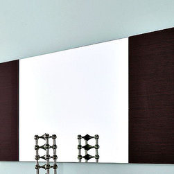 Rossetto - Line Wenge Mirror - A handsome design frames this rectangular mirror. With matching wenge finished panels on either side, it makes a smart addition to any room in the home. Inspired by Italian design elements, this is a versatile choice that's stylish and with those textures and patterns evident in today's quality home furnishings. Combine with your room decor to present an updated look instantly.