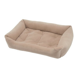 Jax & Bones - Jax & Bones Everyday Nest Bed Latte Large - Built like a sofa with extra length for dogs who like to stretch. Made with heavy weight velour fabrics and filled with Sustainafill, our signature eco-friendly fiber. Fabric is 100% machine washable.
