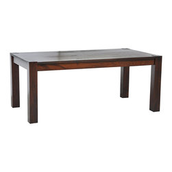 Kosas Collections - Isaiah Dining Table - With a look that would be at home in a loft or a suburban tract house, this brown dining table has the versatility to compliment almost any decor. Constructed of acacia wood, this piece features clean lines, subtle details, and a rich, cinnamon finish.