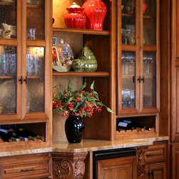 Dakota Kitchen and Bath - Individual Pieces - Notice the beautiful detail on this beverage center. It's a functional work of art.