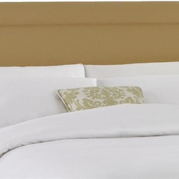 Skyline Furniture - Upholstered Headboard w Foam Padding in Twill - Choose Size: QueenAdjustable legs. Can be wall mounted. Plush foam padding. Attaches to standard bed frames. Made from 100% cotton. Made in the USA. Minimal assembly required. Overall Height with legs: 51-55 in. H. Overall Height without legs: 29 in. H. Twin: 41 in. L x 4 in. W x 51 in. H (24 lbs.). Full: 56 in. L x 4 in. W x 51 in. H (31 lbs.). Queen: 62 in. L x 4 in. W x 51 in. H (33 lbs.). King: 78 in. L x 4 in. W x 51 in. H (45 lbs.). California king: 74 in. L x 4 in. W x 51 in. H (40 lbs.)Twill upholstered headboard