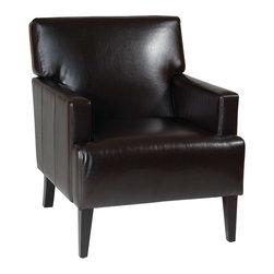 Office Star - Office Star Avenue Six Carrington Arm Chair in Espresso Eco Leather - Carrington arm chair in espresso eco leather