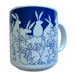 Taylor and Ng - Animates Blue Nitetime Rabbits Mug - Taylor & - Blue nighttime Animates Rabbits on a White 11 oz Ceramic mug. Dishwasher and microwave safe. Animates Mugs collection. Stackable for easy storage. 3.25 in. L x 3.25 in. W x 3.5 in. H