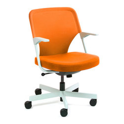 Comp Sit Inc. - 5th Ave Chair, Orange - Sit on it and rotate with style.Ships in: 1-2 business days