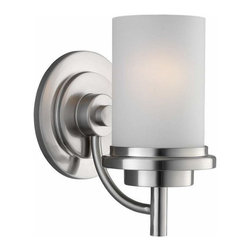 Sea Gull Lighting - 1-Light Wall / Bath Brushed Nickel - 44660-962 Sea Gull Lighting Winnetka 1-Light Wall / Bath with a Brushed Nickel Finish
