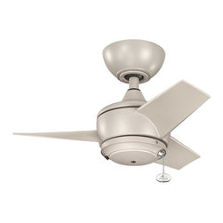 """Kichler - Yur 24"""" Ceiling Fan Antique Satin Silver - Kichler Yur Model KL-310124ANS in Antique Satin Silver with All Weather Polycarbonate Antique Satin Silver Finished Blades."""