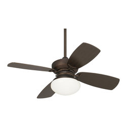 """Casa Vieja - Contemporary 36"""" Outlook Oil-Rubbed Bronze Ceiling Fan - This simple stylish ceiling fan comes in a rich oil-rubbed bronze finish with matching blades. Integrated light kit features opal glass and includes two energy efficient CFL bulbs. 3-speed motor with pull-chain operation. A smart addition to living rooms kitchens and more. Oil rubbed bronze finish motor. Four matching blades. Opal glass light kit. Two 13 watt CFL bulbs included. 3 speeds pull chain operation. 5"""" downrod included. 36"""" blade span. 15 degree blade pitch.  Oil rubbed bronze finish motor.   Four matching blades.   Opal glass light kit.   Includes two 13 watt CFL bulbs.  Cap included for non-light use.  3 speed motor with pull chain operation.  36"""" blade span.   15 degree blade pitch.  Fan height is 11 1/4"""" ceiling to blade (with 5"""" downrod).   Fan height is 15 3/4"""" ceiling to bottom of the light kit (with 5"""" downrod).  5"""" downrod included.   Canopy is 5 1/4"""" wide and 2 1/4"""" high."""