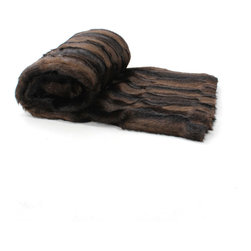 Love Thy Prey Faux Fur Throw - Luxe Mink Brown - Dark and polished in deep brown mink, drawing every eye with the rippling sheen that perfectly complements the beauty underneath take this upper-class dream from the fancies of an enchanted evening to the comfort of your sofa with the Luxe Mink faux fur throw in Brown. A product of the Love Thy Prey Collection of fur-alternative decorative blankets, the throw is made from a deep-pile imported faux fur of absolutely indescribable elegance.
