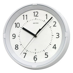 "Rhythm Clocks - 11"" Gemini Wall Clock Silver 8MG796WR03 - The Gemini lights up and illuminates the dial at night like a true star. Clock is battery operated with a Quartz movement."