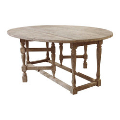 Kathy Kuo Home - Swedish Gustavian Gray Oval Gate Leg Drop Leaf Dining Table - Equally at home in your city loft as it is in your grand estate, this Gustavian dining table is a study in form and function. It has a drop leaf that can expand to accommodate a crowd and close back up when it's not in use.