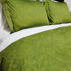 Cokas Diko - Cokas Diko Lime Floral Duvet Set, Queen - Fresh as a Spring meadow with a spruce of efflorescent harmony, our Lime Duvet is pure indulgence.  Super soft incredibly comfortable a Cokas Diko exclusive. Our Queen duvet set come with 2 standard sized coordinating shams. Pattern reverses to self. Created with 300 thread count pre washed percale cotton. Machine washable.