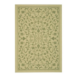 """Safavieh - Safavieh Courtyard CY2098-1E01 7'10"""" Square Natural, Olive Rug - Safavieh's Courtyard collection was created for today's indoor/outdoor lifestyle. These beautiful but practical rugs take outdoor decorating to the next level with new designs in fashion-forward colors and patterns from classic to contemporary. Made in Turkey with enhanced polypropylene for extra durability, Courtyard rugs are pre-coordinated to work together in related spaces inside or outside the home."""