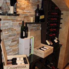 Traditional Wine Cellar by P&M Renovations