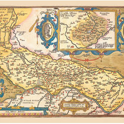 Buyenlarge - Map of Middle East 12x18 Giclee on canvas - Series: Theatro D'el Orbe La Tierra - Ortelius