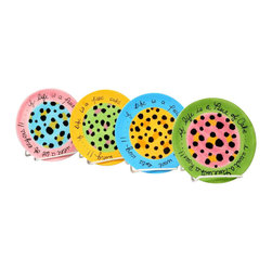 ATD - 6.13 Inch Diameter Colorful Leopard Print Cake Plates, Set of 4 - This gorgeous 6.13 Inch Diameter Colorful Leopard Print Cake Plates, Set of 4 has the finest details and highest quality you will find anywhere! 6.13 Inch Diameter Colorful Leopard Print Cake Plates, Set of 4 is truly remarkable.