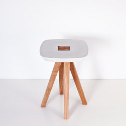 Stool/Side Table/Pedestal Table, White by Inoow Design - I've never seen such a neat stool. It has a very clever design. I don't have much seating in the living room, so this would be great to have for when guests come over. Then when they leave, it easily comes apart and goes back in the closet.