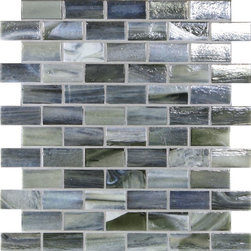 "Glass Tile Oasis - Slate 1"" x 2"" Grey Pool  Glossy & Iridescent Glass - Sheet size:  1.02 Sq. Ft.   Tile Size:  1"" x 2""   Tiles per sheet:  66    Tile thickness:  1/4""   Grout Joints:  1/8""   Recycled Components:  70%   Sheet Mount:  Paper Face     Sold by the sheet    - This collection is evocative of the glass-like natural layered silica created by volcanic stone formations. With a nod to old world Venetian glassmakers  our mosaics are created using the same processes from molten silica; hand-poured  blending transparent and opaque colors and natural and opalescent finishes into a unique  luxurious glass designed to please the most discriminating eye. It is available in 14 dramatic color blends and two finishes  Glossy & Frosted. Each piece is hand-poured and unique  designed with a certain amount of variation and variegation of color  tone  texture and shade for a distinctive appearance. Our hand-made process incorporates creases  wrinkles  waves  bubbles and other surface effects indicative of hand-made glass  all designed to capture light and enhance the final beauty of the project."