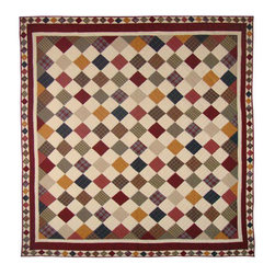 Patch Quilts - Rustic Cabin Quilt King 105 x 95 Inch - Intricate patchwork and beautiful hand quilting  - Bedding ensemble from Patch Magic  the name for the finest quality quilts and accessories  - Machine washable  - Line or Flat dry only Patch Quilts - QKRUSC