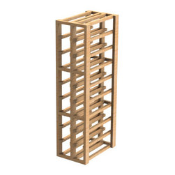 EcoWineracks 2 Column Upper Individual Bottle Rack, Golden Color, Clear Acrylic - EcoWineracks are the worlds only traditional style wine racks made from non-forested and sustainable bamboo. Bamboo is superior to wood in strength and durability, is non-warping and has consistent grain.