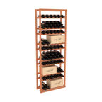 Wine Racks America - Baker Style Case/Bottle Rack in Redwood, (Unstained) - This wine rack kit is a versatile and beautiful addition to your wine cellar. This rock solid kit withstands extensive use of storing bottles and cases together in one place. That's a guarantee. As a freestanding solution or included with a complete wine cellar, you'll love this rack.