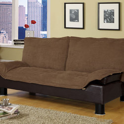 Coaster - Brown Contemporary Sofa Bed - Futon sofa bed is stylish, comfortable and available in three colors.