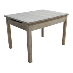 International Concepts - International Concepts Unfinished Kids Table with Storage - International Concepts - Kids Tables - JT2532L -