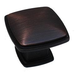 GlideRite - GlideRite 1.25-inch Oil Brushed Bronze Square Deco Cabinet Knobs (Case of 25 ...