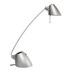 Dainolite - Halogen Desk Lamp, Silver Painted finish - -Main Body Material: Plastic