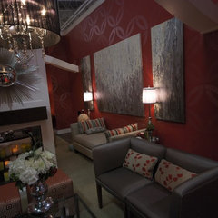eclectic media room by Jennifer Brouwer (Jennifer Brouwer Design Inc)