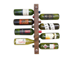 Vetrina Del Vino - Wine Rack Tuscan 8 Bottle High Capacity - What an awesome and decorative way to store your vino! This wine rack holds eight full bottles of your choice and mounts easily on your dining or kitchen wall. You'll love the natural, rustic look that comes from this brand's roughly sawn wood.