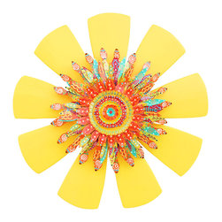 Souvenir Farm, Ltd. - Southwest Sunburst Wall Art | Handcrafted Wood & Metal Wall Decor - Have you ever seen a piece of art that was so deliciously colorful that you wanted to take a bite out of it? That would be this wreath.