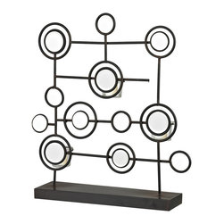 Sterling Industries - Sterling Industries 129-1059 Iron & Mirror Tea Light Stand - Candle Holder (1)