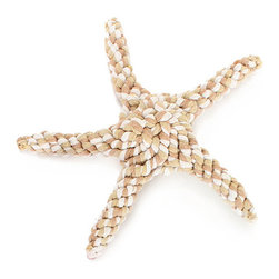 Rope Starfish Toy - Tan - Whether you'd like a high-quality rope toy for theming the pet needs in a beach house or simply look for functionality in your dog's everyday possessions, the eco-friendly Tan Rope Starfish Toy is both stylish and enjoyable for your dog.  Made in variegated natural colors, this knotted nautical pet toy is good for the teeth, can be wetted and chilled to soothe teething puppies, and holds up to enthusiastic play.
