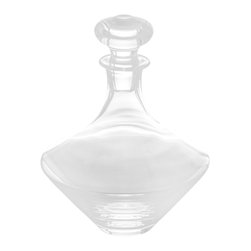Abigails - Classic Glass Decanter, Teardrop - A lovely addition to our line is this tear drop shaped decanter. It fits right into any contemporary setting. Lead free crystal.