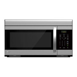 LG - LG 1.6-cubic-foot Non-sensor Over-the-range Microwave Oven - Prepare whole meals with ease using this LG over-the-range microwave oven. This microwave oven offers a 1.6-cubic-foot capacity and a sleek stainless steel finish that will match a variety of modern decor.