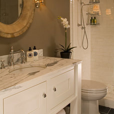 Transitional Bathroom by collaborative interiors