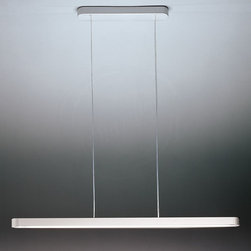 Artemide Talo Linear Suspension Light - Talo Suspension Lamp by Artemide Lighting: a linear fluorescent suspended light fixture for the kitchen, home office or business.  Prices start at $880 & up.  From Stardust.