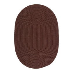 Colonial Mills - Colonial Mills Boca Raton BR82 Chocolate Rug BR82R144X180 12x15 - Just pick a coloreany colorethey are all here! This colorful outdoor rug utilizes a simple flat braid construction in an array of colors to put a fashionable stamp on your decor.