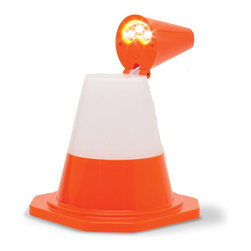 DCI Gifts - Cone Light - If you're hopelessly bumping into things at night, fear not! The Cone Light was made for such situations. Allow its LED glow to safely guide you through the hazards in your room and home. No more stubbing your toes! It's also perfect for lighting up your party!